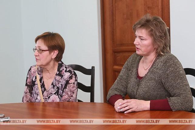 Антонина Тарасевич и Олеся Ганионская
