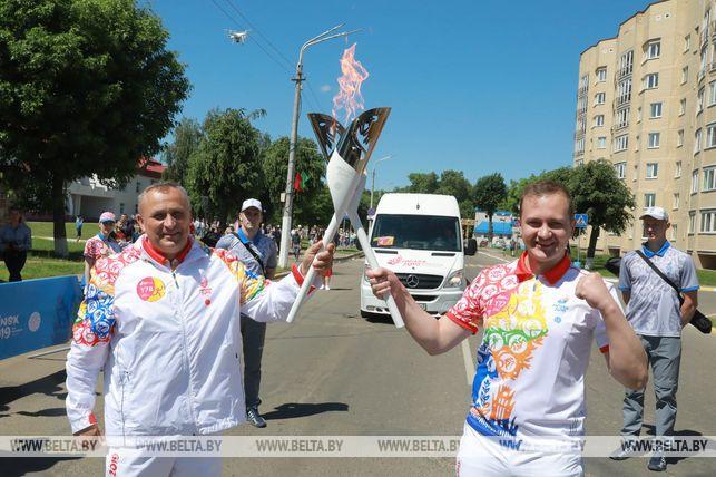 Олимпийский чемпион Александр Масейков и первый секретарь ЦК БРСМ Дмитрий Воронюк