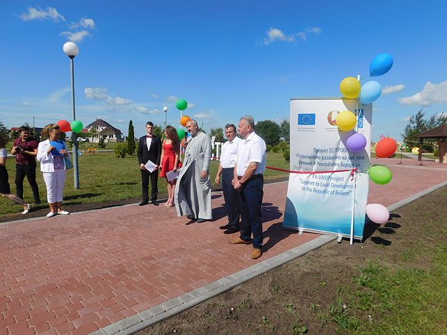 Три детские площадки появились в Брестском районе благодаря местной инициативе