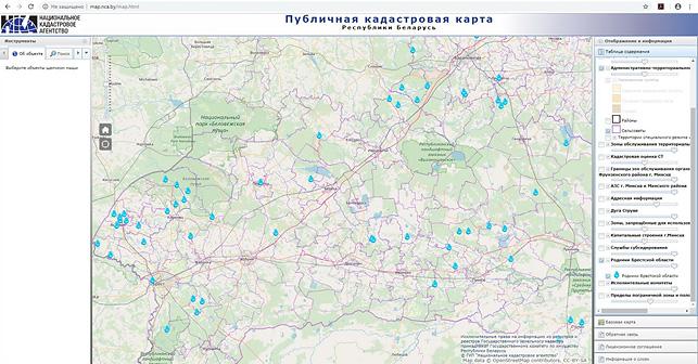 Родники Брестской области нанесли на публичную кадастровую карту