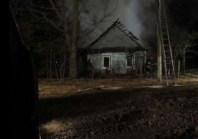 ВСенненском районе впожаре погибли два человека