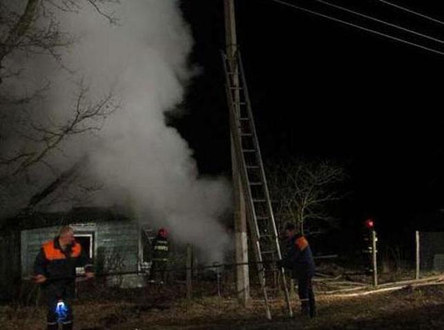 Сенненский район: впожаре погибли два человека