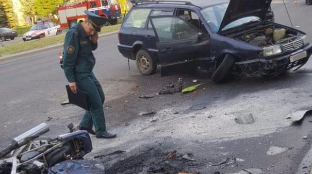 ВЛиде байкер влетел под «Фольксваген» и умер