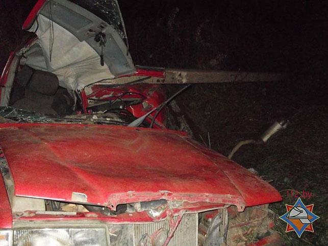 Cотрудники экстренных служб извлекали водителя изврезавшегося вопору ЛЭП Mercedes