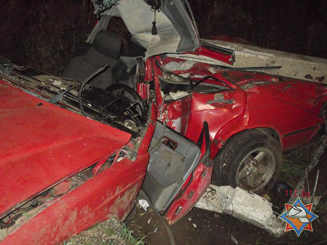 Cотрудники экстренных служб извлекли водителя изврезавшегося вопору ЛЭП Mercedes