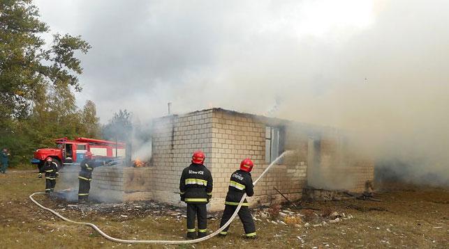 ВЖлобинском районе сгорел фельдшерско-акушерский пункт