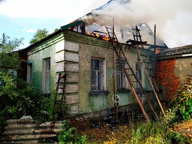 Дом в деревне Крупейки. Фото Гомельского областного управления МЧС