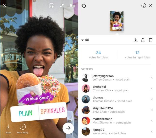 Опросы иголосования стали доступны пользователям социальная сеть Instagram