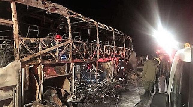 ВМарокко как минимум 10-ти человек сгорели живьем после ДТП