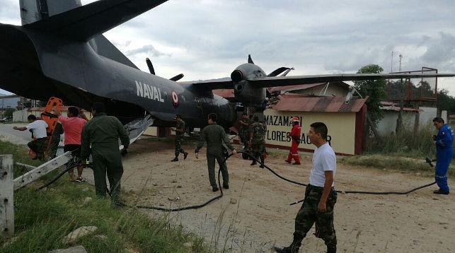 ВПеру военный самолет врезался вполицейский участок