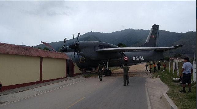 Военный самолёт врезался вполицейский участок вПеру