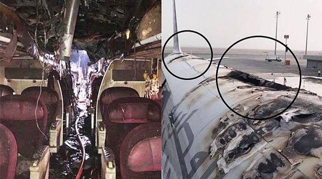 Вкатарском аэропорту сгорел пассажирский авиалайнер