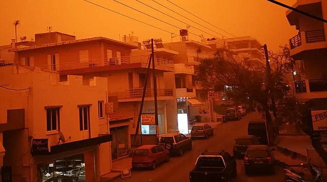 ФОТОФАКТ: На Крит обрушилась африканская пыль