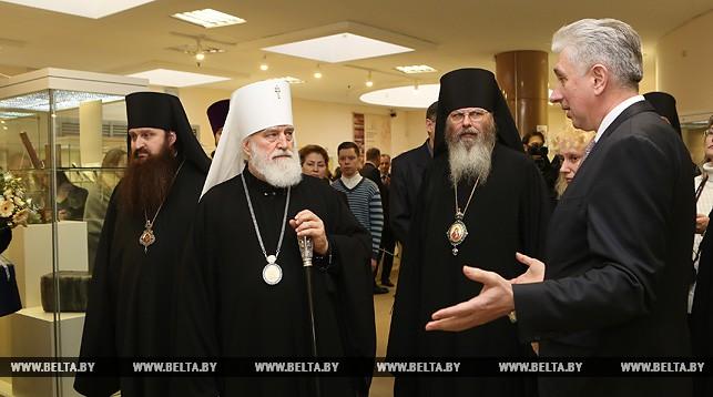 Митрополит Минский и Заславский Павел и директор Национальной библиотеки Роман Мотульский