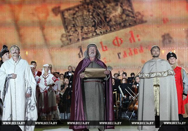 На торжественном открытии Дня белорусской письменности в Полоцке. Фото из архива