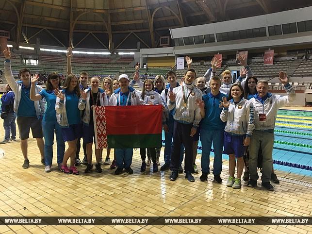 Сборная Беларуси по плаванию на Всемирной летней гимназиаде