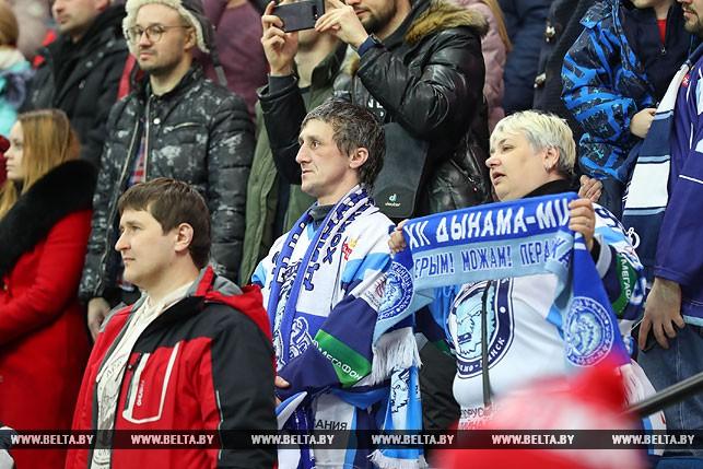 Хоккеисты минского «Динамо» победили вдомашнем матче чемпионата КХЛ