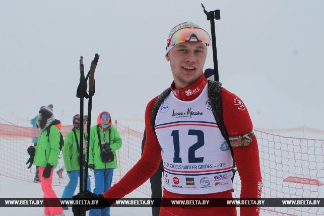 Капитан команды, биатлонист Антон Шидловский