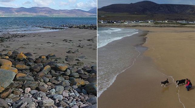 ВИрландии изморской бездны через 33 года вынырнул песчаный берег
