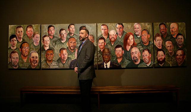 Буш-младший написал портреты американских ветеранов— Картина маслом