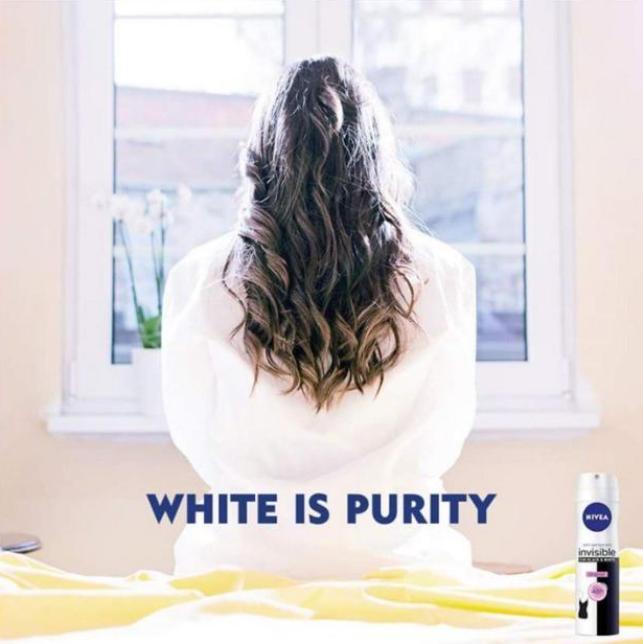 «Белое— это чистота»: рекламу Nivea обвинили врасизме