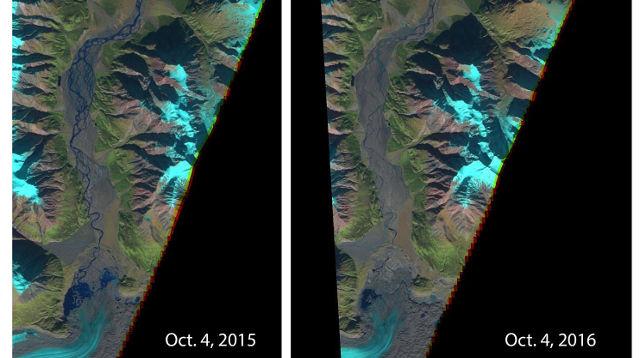 Из-за глобального потепления вКанаде пропала река