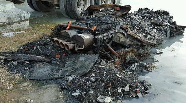 Спорткар Corvette ввиде кучи пепла выставили на реализацию вСША