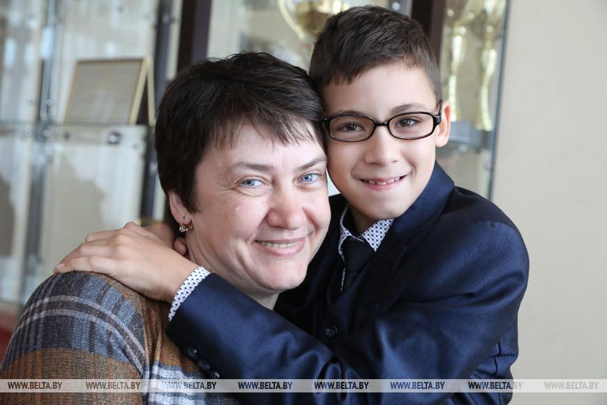 Светлана Алексеева с сыном Андреем