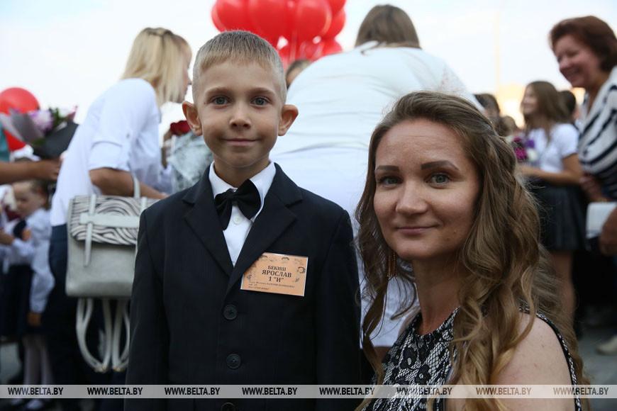 Людмила Бекиш вместе с сыном Ярославом