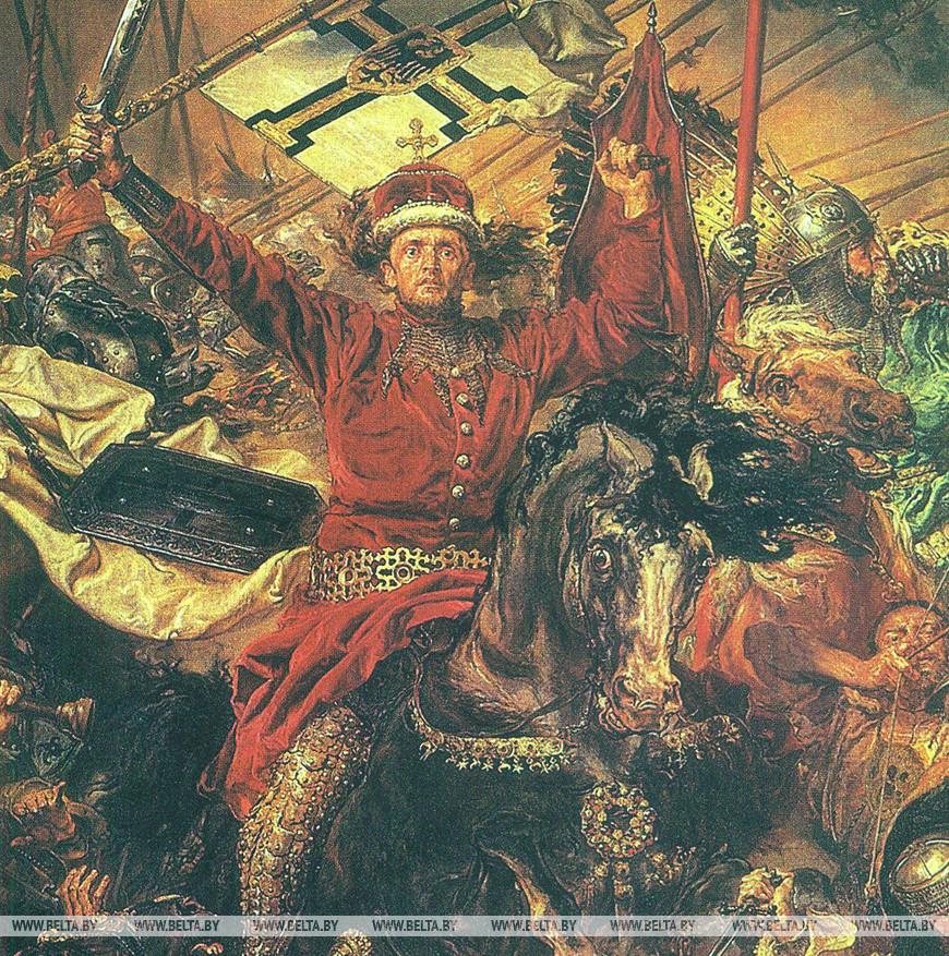"""Великий князь литовский Витовт. Фрагмент картины """"Грюнвальдская битва"""". Я. Матейко, 1878 г."""