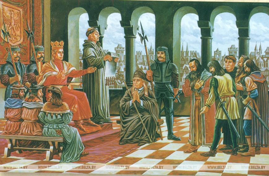 Дарование Берестью права на самоуправление. В. Ковальчук, 1996 г. (Музей истории города)