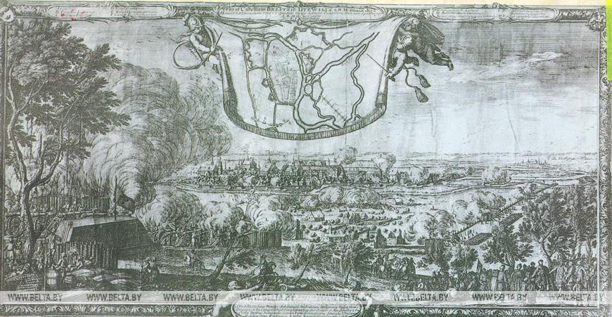 Осада Берестья шведами в 1657 г. Е.Дальберг. Гравюра, 1659 г. (Музей истории города)