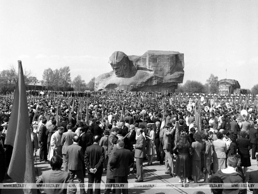 Мітинг в Брестській фортеці в день 40-річчя Перемоги, травень 1985 року