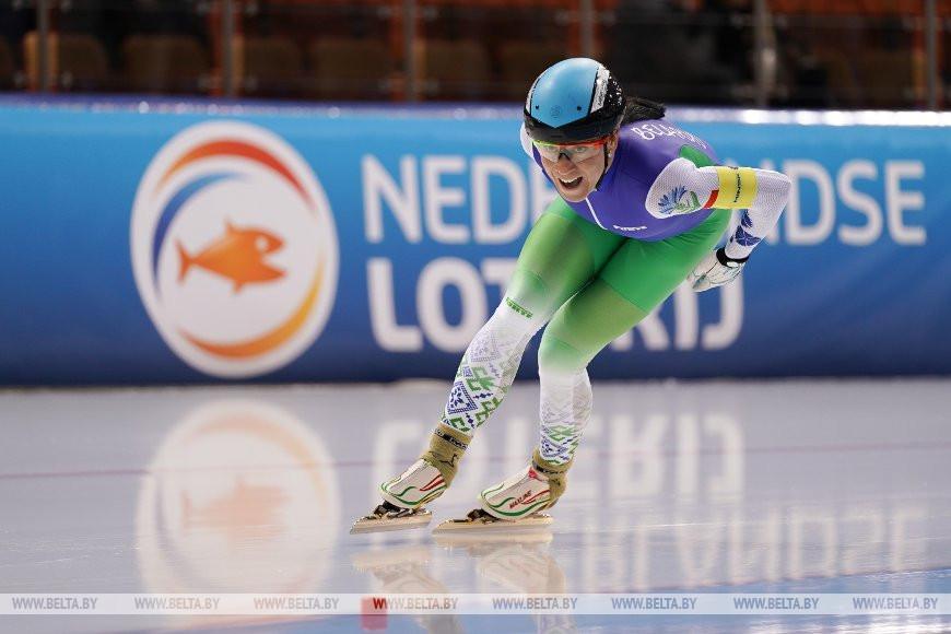 Татьяна Михайлова на заключительном круге командного спринта