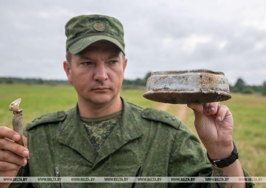 Военнослужащий 52-го отдельного специализированного поискового батальона Министерства обороны Денис Грибовский