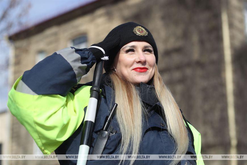 Старший инспектор отделения агитации и пропаганды ГАИ УВД Гродненского облисполкома Людмила Ракевич
