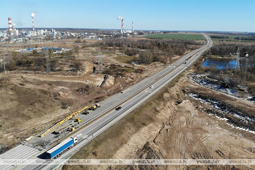 Строительство развязки на трассе М6