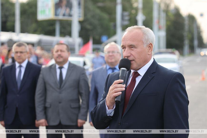 Председатель Витебского облисполкома Николай Шерстнев во время выступления