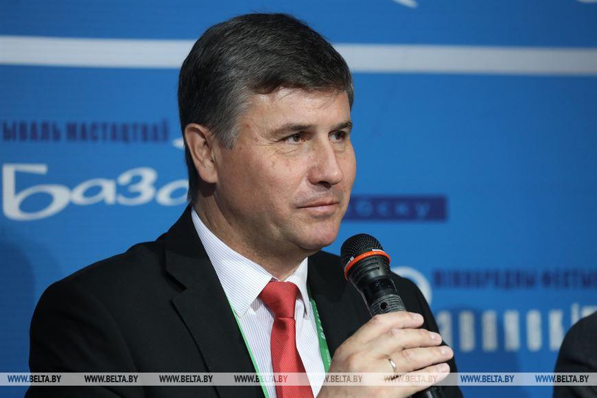 Вадим Зарянкин во время пресс-конференции