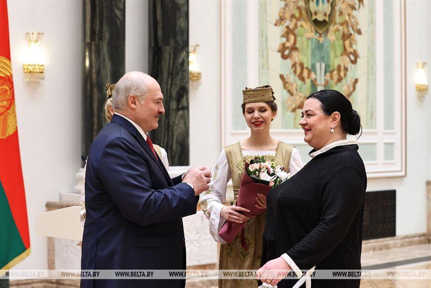 Медалью Франциска Скорины награждена артистка Национального академического театра имени Янки Купалы Ольга Нефедова