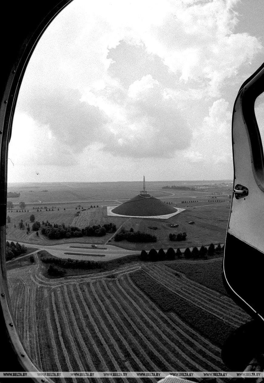 Курган Славы. Вид с вертолета
