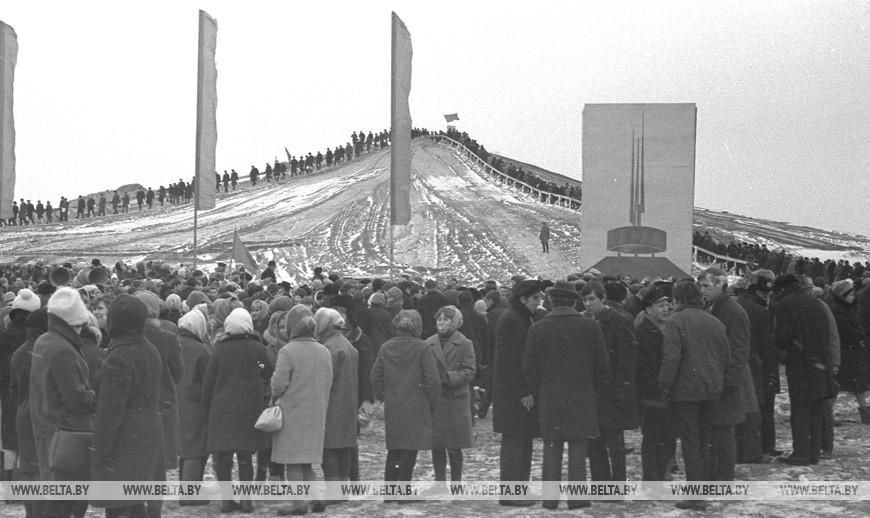 Засыпка Кургана Славы, 1967 год