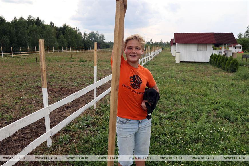 Юный фермер Максим Добуляк
