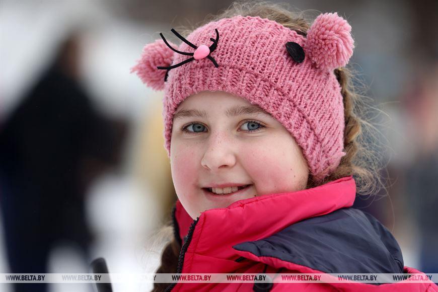 Участница соревнований Дарья Абраменко из Шумилинского района