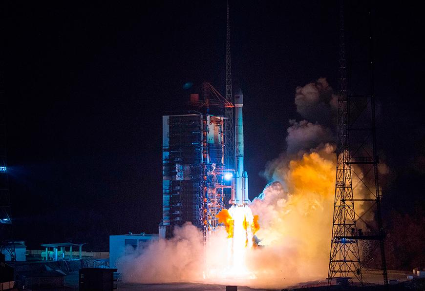 """Запуск спутника """"Белинтерсат-1"""". Фото Синьхуа - БелТА."""